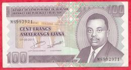 Burundi 100 Francs Du 01/09/2011 ---XF/SUP+ - Burundi