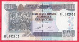 Burundi 500 Francs Du 31/10/2013 ---UNC - Burundi