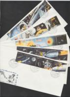 PALAU - First Day Covers - 1989 Set Of 5 Moon Landing In Strips. Great Way To Obtain Used Stamps For Your Collection! - Palau