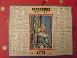Almanach Des PTT. 1964. Calendrier Poste, Postes Télégraphes. Au Grand Air - Grand Format : 1961-70
