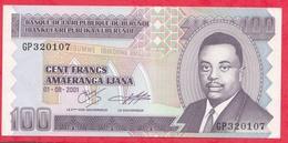 Burundi 100 Francs Du 01/08/2001 ---UNC - Burundi