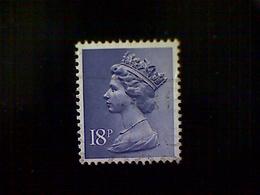 Great Britain, Scott #MH101, Used(o), 1984, Machin: Queen Elizabeth II, 18p, Violet Blue - 1952-.... (Elizabeth II)
