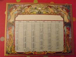 1987. Calendrier Cartonné. Art Nouveau Genre Mucha - Calendriers