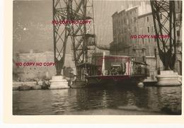 WW2 PHOTO ORIGINALE ALLEMANDE Camion WH Pont Transbordeur VIEUX PORT MARSEILLE BOUCHES DU RHÔNE 13 OCCUPATION N°3 - 1939-45