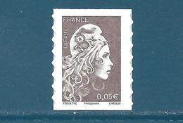 N°???? Marianne D'Yseult 0,05€ Brun Foncé Autoadhésif Neuf** (issu De Feuille) - 2018-... Marianne L'Engagée
