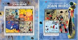 Niger 2013, Art, Joan Miro, (Carnival Of Harlequin), 4val In BF+BF - Künste