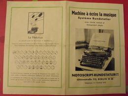 Publicité Machine à écrire La Musique Système Rundstatler. Nototyp. Vers 1950 - Publicités