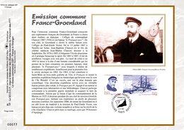 """"""" FRANCE - GROENLAND 2007 """" Sur Feuillet CEF 1er Jour N°té En Soie N° 1912s. N° YT 4110 4111. Parfait état. - Emissions Communes"""