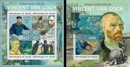 Niger 2013, Art, Van Gogh, 4val In BF+BF - Künste