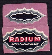RADIUM - Razor Blade Old Vintage WRAPPER (see Sales Conditions) - Razor Blades