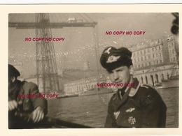 WW2 PHOTO ORIGINALE Soldat Allemand Officier LW Pont Transbordeur à MARSEILLE BOUCHES DU RHÔNE 13 OCCUPATION - 1939-45