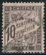 France 1881 Taxe Yv. N°15 - 10c Noir - Oblitéré - Taxes