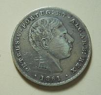 Portugal 100 Reis 1861 Silver - Portugal