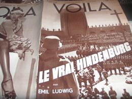 VOILA 34/HINDENBURG /BAS ANDRE SALMON/AUSTRALIE BOOMERANG /FURNES PROCESSION//DOCUMENT ROUGE - Livres, BD, Revues