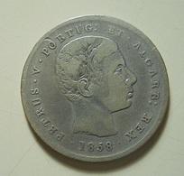 Portugal 200 Reis 1858 Silver - Portugal