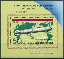 Korea (Nord) 1979 Luftschiffe: LZ 127 Graf Zeppelin Block 55 Postfrisch (C30479) - Korea, North