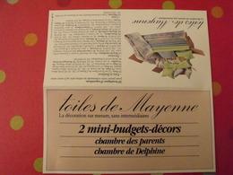Publicité Toiles De Mayenne. Vers 1980 - Publicités