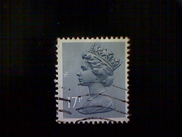 Great Britain, Scott #MH97, Used(o), 1980, Machin: Queen Elizabeth II, 17p, Blue Gray - 1952-.... (Elizabeth II)