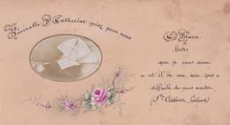 Canivet Image Pieuse Fait Main - Vénérable Soeur Catherine Priez Pour Nous - 6 X 11 Cm - Religion & Esotérisme