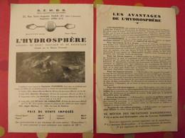 L'hydrosphère, Appareil De Sport Nautique Et De Sauvetage. Capitaine Flourens. Vers 1936 - Vieux Papiers