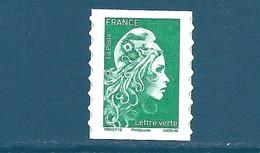 N°???? Marianne D'Yseult Lettre Verte Autoadhésif Neuf** (issu De Feuille) - 2018-... Marianne L'Engagée