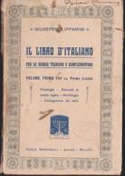 VOLUMETTO IL LIBRO D'ITALIANO DI GIUSEPPE LIPPARINI VOL.1 DEL 1917. - Livres, BD, Revues