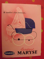 Publicité Laudaus Maryse Madier. Dessin Berceau Laudau Signé Simonet. Pochette à Rabat Vers 1960-70 - Publicités