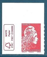 N°???? Marianne D'Yseult Lettre Prioritaire Autoadhésif Neuf** (issu De Feuille) + Logo FSC - 2018-... Marianne L'Engagée