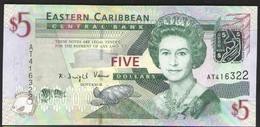 EAST CARRIBEANS   5 $  2003г UNC - East Carribeans