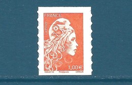 N°???? Marianne D'Yseult 1,00€ Orange Autoadhésif Neuf** (issu De Feuille) - 2018-... Marianne L'Engagée
