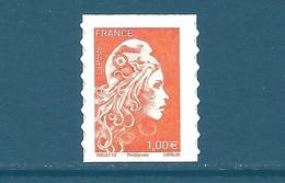 N°1600 Marianne D'Yseult 1,00€ Orange Autoadhésif Neuf** (issu De Feuille) - France