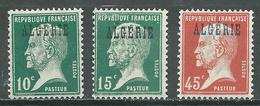 Algérie YT N°9-11-22 Pasteur Neuf ** - Algérie (1924-1962)