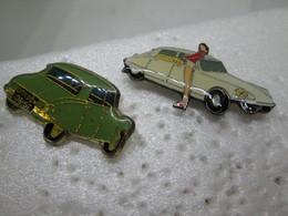 PIN'S   LOT 2  CITROEN  DS - Citroën
