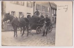 CARTE PHOTO : BACKEREI GEORG SPONSEI (BOULANGERIE) - ATTELAGE ET SACS DE FARINE ? - GOURNAY EN BRAY ?? - 2 SCANS - - Cartes Postales