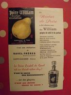 Publicité Poire William Nectar Cristallisé. Liqueur 45°. Ravel Frères. Saint-Galmier. Vers 1970 - Publicités