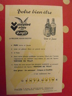 Publicité Verveine Du Velay, La Liqueur Digestive. Liqueurs Pagès. Infusions Thé. Vers 1970 - Publicités