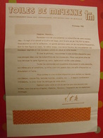 Publicité Toiles De Mayenne. échantillon De Tissu. 1985 - Publicités