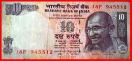 INDIA ---  4 BILLETES INDIA 10 RUPIAS MAHATMA GANDHI - India