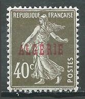 Algérie YT N°20 Semeuse Fond Plein Neuf/charnière * - Algérie (1924-1962)