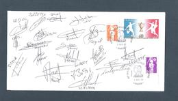 AUTOGRAPHE JOUEURS FOOTBALL.. FC ROUEN   SAISON 1992 / 93 - Football