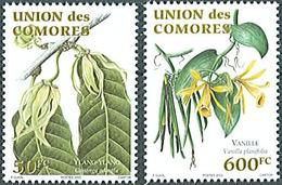 Comores Comoros Plantes Aromatiques 2003 - 2 Val. ** MNH Mi 1791/1792 Vanilla Vanille Ylang-ylang - Comores (1975-...)