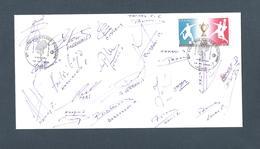 AUTOGRAPHE JOUEURS FOOTBALL.. FC SOCHAUX MONTBÉLIARD   SAISON 1991 / 92  ...HADZIBEGIC ..TAKAC ... - Football