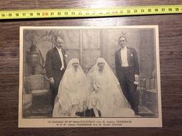 ANNEES 20/30 MARIAGE ODETTE LACAPELLE JACQUES VERMERSCH XAVIER DUPONT - Collections