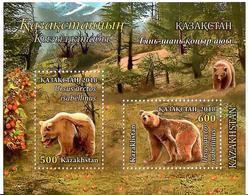 Kazakhstan.2018 Himalayan Brown Bears. S/S Of 2v: 500, 600 - Kazakhstan