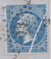 LAC Affr N° 22 Obl Etoile 22 Paris R De Cléry (Ind2)-Datée 8 MAI 66-Superbe Pli Accordéon - Marcophilie (Lettres)