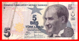 TURQUIA   ------    BILLETE DE 5 LIRAS TURKAS - Turquie