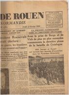 JOURNAL De ROUEN ( Journal De Normandie )2 Fevrier 1939 Camp De PRATS De MOLLO Guerre D'Espagne Berga Vich - Journaux - Quotidiens