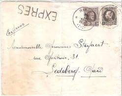 Lettre EXPRES De Binche Vers Ledeberg - 1923 (à Voir) - België