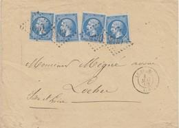 ESC Affr N° 22 X 4 Obl GC 490 De Le Blanc (35) (Ind 3)-Datée 4 MAI 66 - Marcophilie (Lettres)