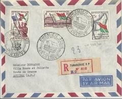 République Malgache Lettre Affranchie Premier Jour - Madagascar (1889-1960)
